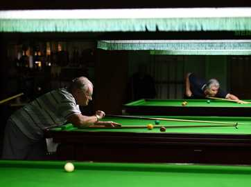 The Bribie Over 70s Handicap Snooker Tournament at the Bribie Billiards and Snooker Club on Saturday, November 22, 2014.
