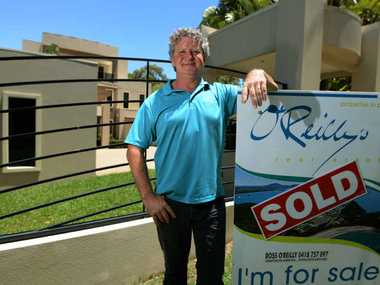 GRAND SCALE: Real estate agent Ross O'Reilly outside the Statue Bay property which recently sold for more than $2 million.