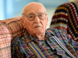 """Eldred """"Dave"""" Cecil Daniels is about to celebrate his 100th birthday. Photo Allan Reinikka / The Morning Bulletin"""