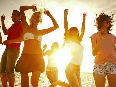 PARTY TIME: Most kids go to Schoolies to have a good time with their friends, enjoying their first real taste of freedom.