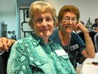Margaret Halter and Shirley Gwynne at the Probus Club Christmas.