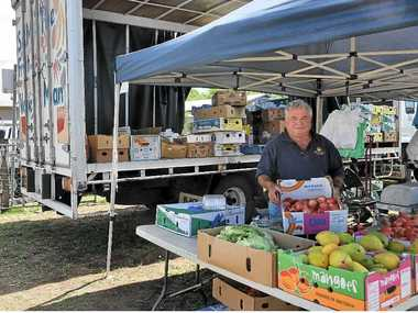 A truck has allowed Sam Sorbello's fruit and vegetable stall at the Warwick Pig and Calf Sale to grow.