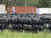 "THE 180,000 tyres that have been illegally dumped in the Ipswich region could lead to ""a catastrophic fire event""."