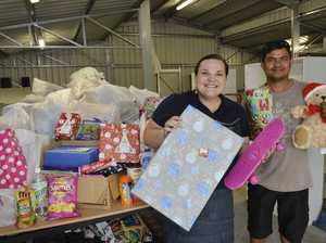 Senior mission leader Karen Sagala and Salvation Army volunteer Sadek Mohammed are thrilled at the amount of donations received for their annual Christmas appeal. Photo Inga Williams / The Satellite