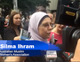 Silma Ihram pays her respects in Martin Place