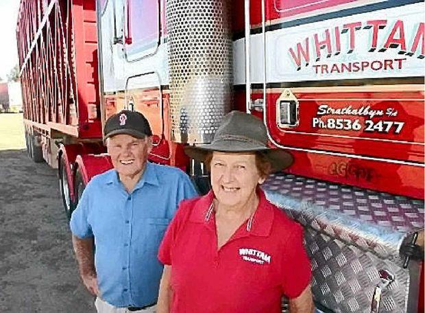 PIONEERING PAIR: Transport industry icons Mac and Lorene Whittam.