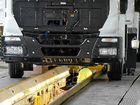 FINAL CHECK: Trucks line up at the Dandenong factory.