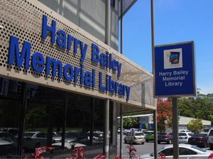 The new signage in honour of Harry Bailey outside the Coffs Harbour library. Photo: Coffs Harbour City Council