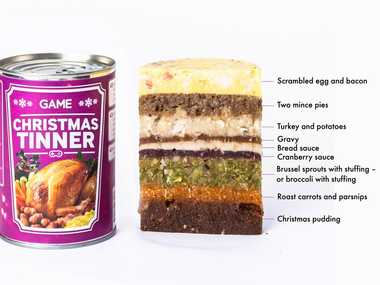 Christmas Tinner - the congealed but technically edible monstrosity the world never needed to exist. Photo Contributed