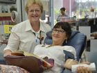 PITTSWORTH'S Gretchen Thomson makes her trips to Toowoomba worthwhile by heading out to the Toowoomba Blood Donor Centre.