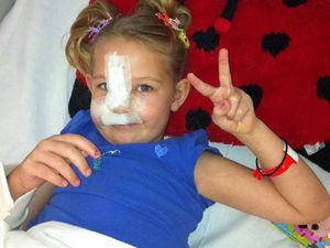 YOUTHFUL COURAGE: Southside mum Jessica Wild is full of admiration for her brave little girl, attacked by a dog last weekend.