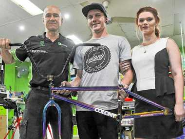 CHRISTMAS JAM: Matt Jenkin, Eythan Lewis and Tamika Bowen are all hoping Christmas Jam is a big hit in its second year when the BMX competition hits Gladstone Skate Park.