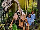 Staff with a dinosaur