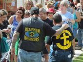 MORE than 7800 people lined up at Maryborough's Victory Church for a free hamper of food on the weekend.