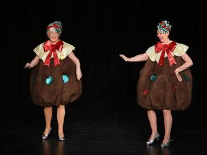The Jetty Memorial Theatre audience had their first experience of tap dancing Christmas puddings.