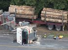 """THE """"haunted"""" driver of a 44-tonne logging truck has told of being powerless to prevent a collision that killed four people - two men and two young girls."""