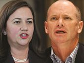 IT took political donations linked to motorbike gangs to fire up tonight's leadership debate between Annastacia Palaszczuk and Campbell Newman.