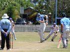 Lee Pittavino during the Ballina Bears v Marist Brothers cricket match on Saturday 10, 2015.