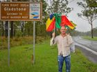 PETER MIDGLEY walked 4.5km in the rain with a broken umbrella. And he reckons he had a pretty good reason.