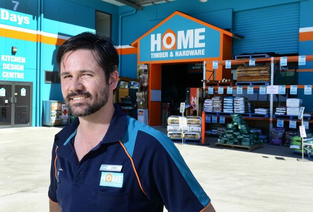 OPEN TO THE PUBLIC: Home Timber and Hardware general manager Josh Simon.