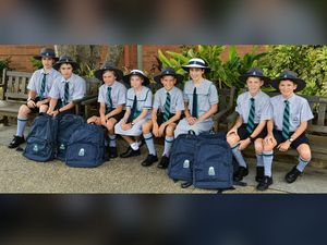 NAME GAME: Ethan and Oliver O'Connell-Degnan, Hunter and Maddy Klinkhamer, Mitchell and Mackenzie Solomon, and Karl and Justin Holland start Year 7 today.