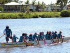 Rainbow Dragons on the water at Lennox