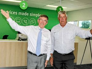 WELCOME: Information Technology Minister Ian Walker with Member for Lockyer Ian Rickuss at the new centre in Gatton.
