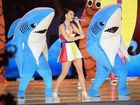 KATY Perry has released a Left Shark onesie based on the dancing killer fish she was joined by on stage at the Super Bowl for her half-time show.