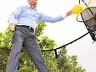 JUMPING FOR JOY: Springfree Trampolines Asia Pacific vice-president Shane Fretwell is planning to expand the business.
