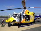 A 21-year-old man was airlifted by the Toowoomba RACQ CareFlight Rescue helicopter to the Royal Brisbane Hospital after he came off his bike at the Gap Creek Motocross Park at 6pm Saturday.