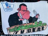 """IN their home game against Arsenal on Saturday afternoon, a group of Crystal Palace supporters unfurled a banner to protest the """"greed"""" of the Premier League."""
