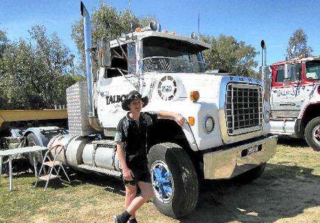 STARTING EARLY: Cooper Wescombe, just 13 years old, says there's nothing he wants to do but drive trucks.