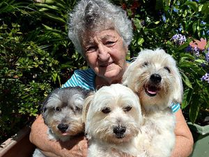 THREE'S NO CROWD: Lucy Asnicar is thrilled she is allowed her to keep her third dog.