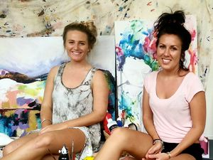 DISPOSITION: Rhanni McCosker (left) and Sarah Drescher will launch their new art exhibition 'Disposition' at Gayndah Art Gallery on March 7, with invited artists Georgie Hopley and Shaun Hyde. Photo Shirley Way / Central & North Burnett Times