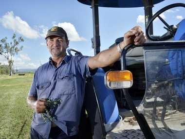 BLUE SKIES AHEAD: Forest Hill farmer Glenn Lerch is looking forward to a fruit and vegetable cannery in the Lockyer Valley to boost local growers.