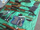 POLICE wrapped up their search of a property near Monto on Thursday afternoon, seizing firearms, ammunition and associated parts.