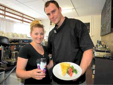 DREAM COME TRUE: Steve and Jessica Allen are eager to serve residents their homemade food and coffees, as they open their first cafe in Frenchville.