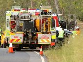 <strong>UPDATE: </strong>A Lockyer Valley man has died after his car veered onto the wrong side of the road and into a tree near Laidley.