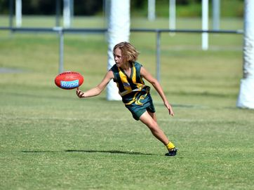 Under 17's AFL match at Maroochydore between the home side and Caloundra.