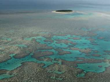 Great Barrier Reef and Bushy Atoll.