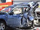 Six vehicle crash