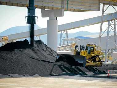 The fourth train-load of bedding coal arrives at Gladstone's newest terminal, WICET.