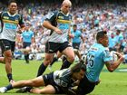 RUGBY: The New South Waratahs' Super Rugby title defence is back on track after a bruising 28-13 win over the Brumbies in Sydney.
