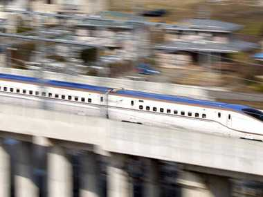 A bullet train in Japan bound for Tokyo. PHOTO: NAOKI MAEDA
