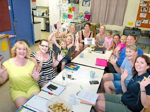 ALL SMILES: Mums and committee members of the Calliope Kindergarten were full of hugs, smiles and happy tears when they found out they had won $5000 in equipment.