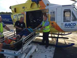 RACQ CareFlight's Gold Coast rescue helicopter has winched an injured walker to safety from Table Top Mountain.