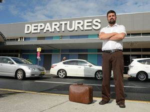 Dr Kyle Quinn at the Gold Coast airport. Photo: John Gass / Tweed Daily News