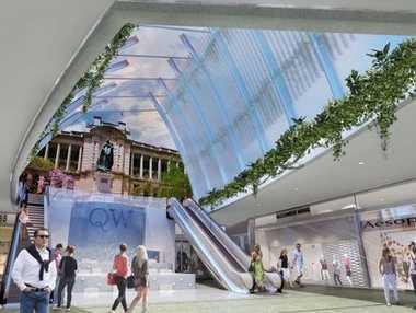 An artist impression of the Brisbane CBD development