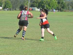 Action from the Lockyer Valley Demons ladies team game against South Burnett Photo Gary Worrall / Gatton Star