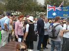 Pauline Hanson attends the Reclaim Australia Rally in Brisbane. Picture from Twitter by Alex McClintock.